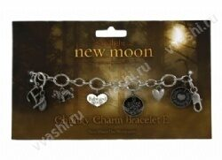 Twilight New Moon bracelet Edward Chunky Charm E